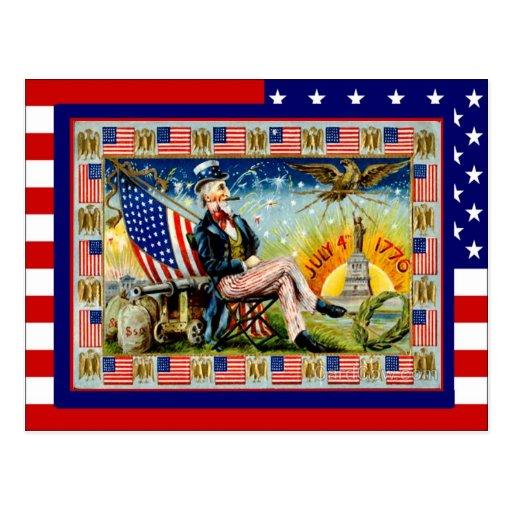 Celebre el 4 de julio tarjetas postales