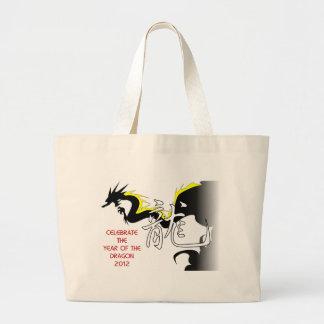 Celebre el año del dragón 2012 bolsa de mano