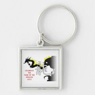 Celebre el año del dragón 2012 llaveros