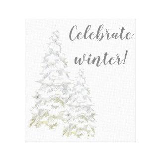 Celebre el arte de la pared del árbol Nevado del