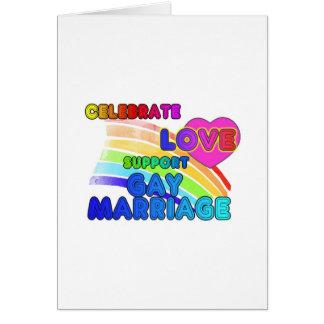 Celebre el matrimonio homosexual de la Amor-Ayuda Tarjeta