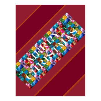 Celebre el NAVIDAD:  Alegría colorida loca de la Postal