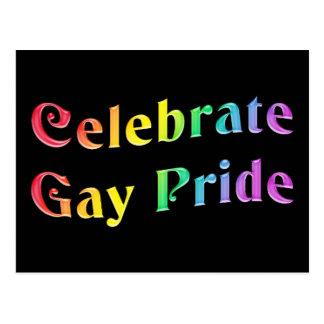 Celebre el orgullo gay postal