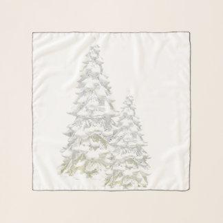 Celebre la bufanda cuadrada media del árbol Nevado
