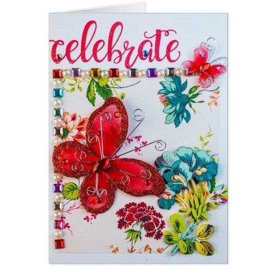 Celebre la tarjeta de felicitación