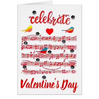 Celebre la tarjeta del el día de San Valentín