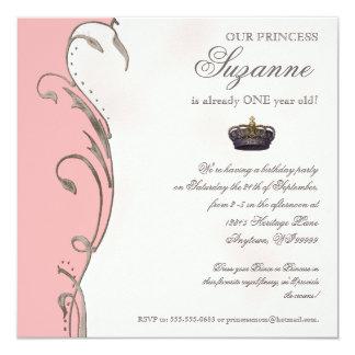 Celebre real a la chica marchosa de princesa invitación 13,3 cm x 13,3cm