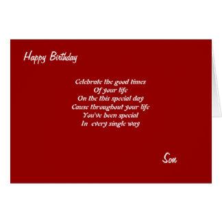 Celebre sus tarjetas de cumpleaños del vida-Hijo