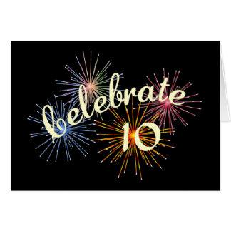 Celebre un 10mo aniversario tarjeta de felicitación