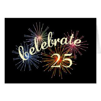 Celebre un 25to aniversario tarjeta de felicitación