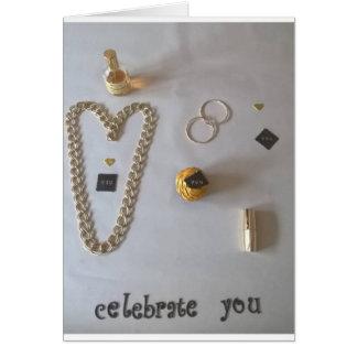 """""""celébrele"""" tarjeta de oro"""