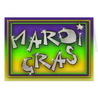 Celébrelo es carnaval tarjeta de felicitación