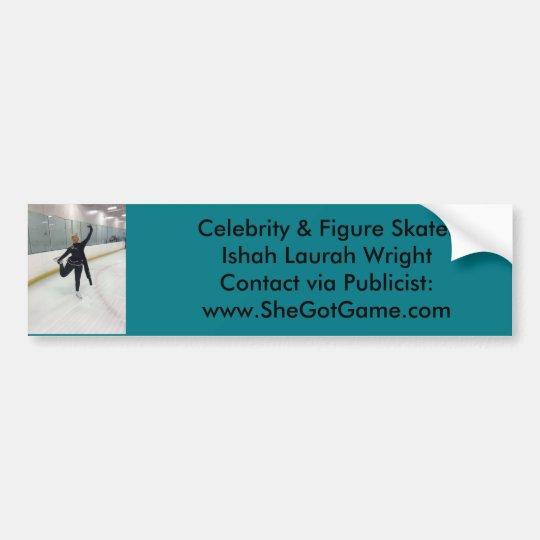 Celebridad y figura patinador Ishah Laurah Wright Pegatina Para Coche