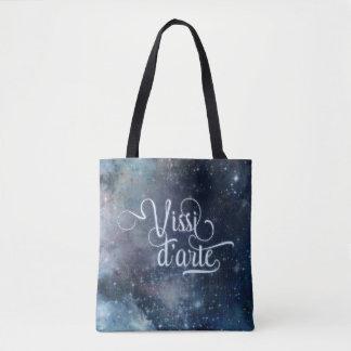Celestial azul del d'arte de Vissi todo encima - Bolsa De Tela