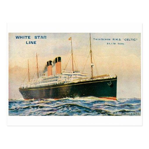 Celtic del RMS Tarjeta Postal