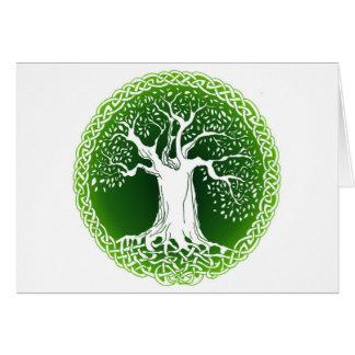 Celtic Wisdom Tree Tarjeta