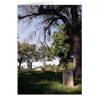 Cementerio del borde de la carretera tarjeta de felicitación