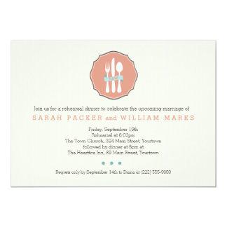 Cena beige del ensayo de la tela a rayas de los invitación 12,7 x 17,8 cm