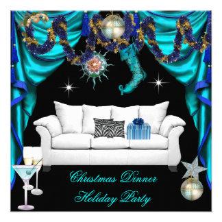 Cena blanca azul del navidad elegante de la celebr comunicados personales