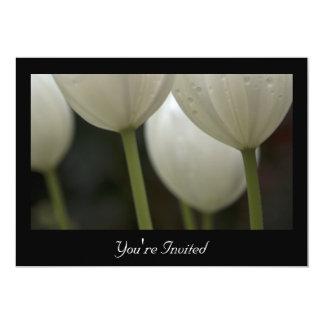Cena blanca del ensayo del boda de la primavera de invitación 12,7 x 17,8 cm