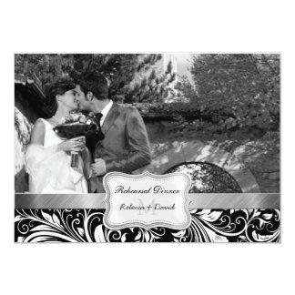 Cena blanco y negro del ensayo del boda del anuncios