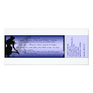 Cena de encargo, desfile de moda y subasta invitación 10,1 x 23,5 cm