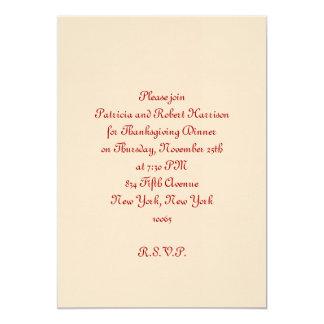 Cena de la acción de gracias invitación 12,7 x 17,8 cm