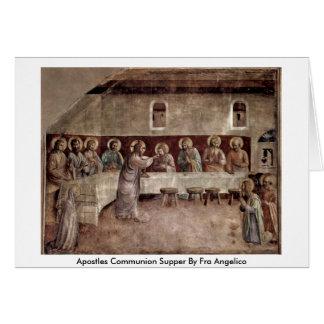 Cena de la comunión de los apóstoles por Fra Angel Tarjeta De Felicitación