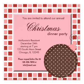 Cena de navidad de los cuadrados anuncio personalizado