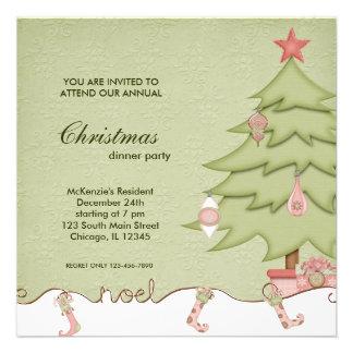 Cena de navidad de Noel Anuncios Personalizados