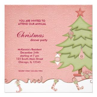 Cena de navidad de Noel Invitacion Personal