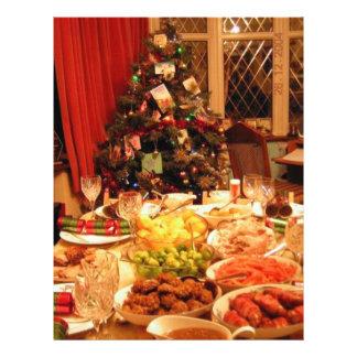Cena de navidad folleto 21,6 x 28 cm