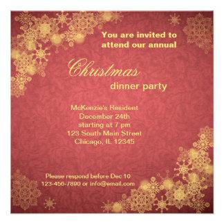 Cena de navidad invitacion personalizada