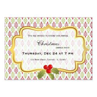Cena de navidad invitación 12,7 x 17,8 cm