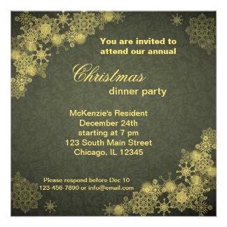 Cena de navidad invitación personalizada