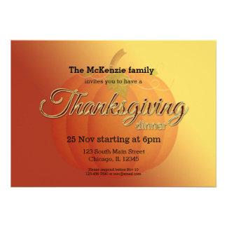 Cena de Thankgiving Comunicado