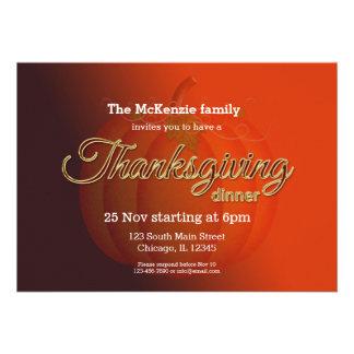 Cena de Thankgiving Invitación