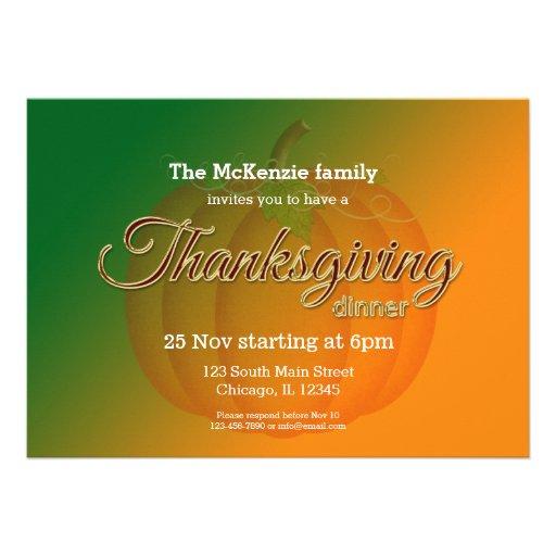 Cena de Thankgiving Anuncios Personalizados