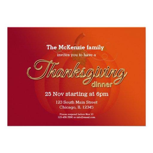 Cena de Thankgiving Comunicados