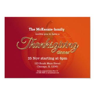 Cena de Thankgiving Invitación 12,7 X 17,8 Cm