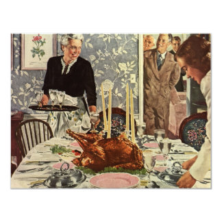 Cena de Turquía del día de la acción de gracias Comunicado Personalizado