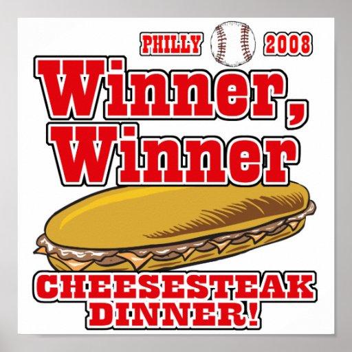 Cena del Cheesesteak del ganador de Philly Impresiones
