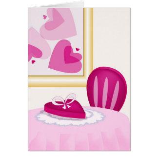 Cena del el día de San Valentín Tarjeta De Felicitación