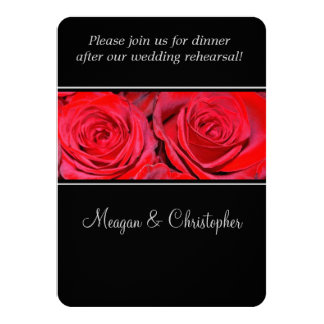 Cena del ensayo de la bodas de plata del negro del invitación 11,4 x 15,8 cm