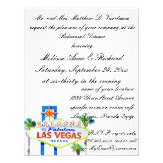 Cena del ensayo de Las Vegas Invitación