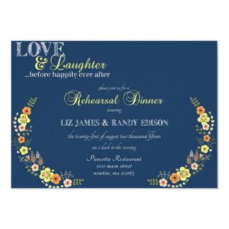 Cena del ensayo del amor y de la risa invitación 12,7 x 17,8 cm