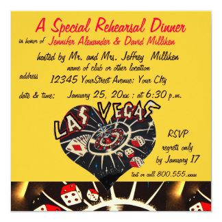 Cenas del ensayo del estilo de Las Vegas Invitación 13,3 Cm X 13,3cm