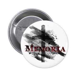 Ceniza Buton de Memoria Chapa Redonda De 5 Cm