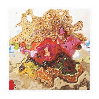 Cenizas al asilo de la tajada de cordero de las impresión en lienzo