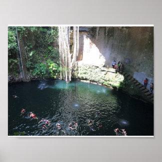 Cenote azul sagrado, Ik Kil, poster de México #4 Póster